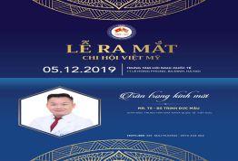Nha khoa Quốc tế Việt Đức tham gia sự kiện lễ ra mắt Chi hội Việt Mỹ 2019